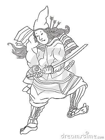 Free Samurai Warrior With Katana Sword Fighting Stance Royalty Free Stock Image - 20310926