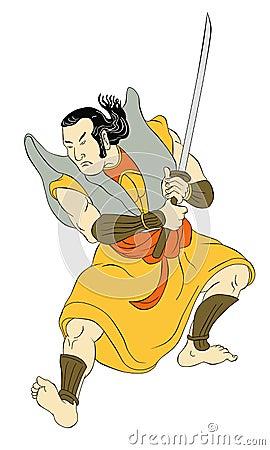 Free Samurai Warrior With Katana Sword Fighting Stance Stock Photos - 20327173
