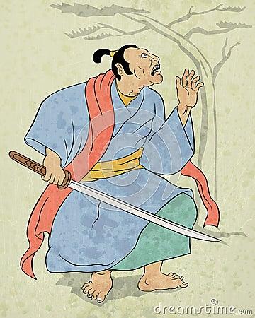 Free Samurai Warrior With Katana Sword Fighting Stance Royalty Free Stock Image - 20480756