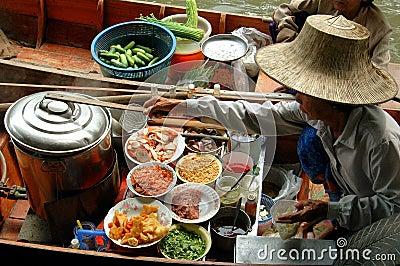 Samut spławowy targowy songkram Thailand Fotografia Editorial