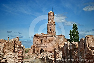 San Agustin Church in Belchite