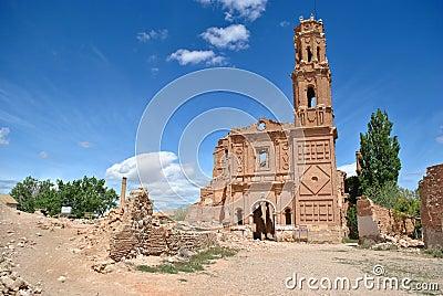 San Agustin Church in Belchite