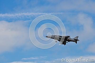 SAN CARLOS, CA - JUNE 19: AV-8B Harrier Jump Jet Editorial Stock Photo
