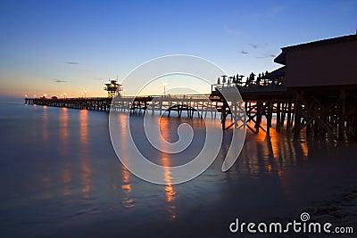San Clemente Pier at sunset - full