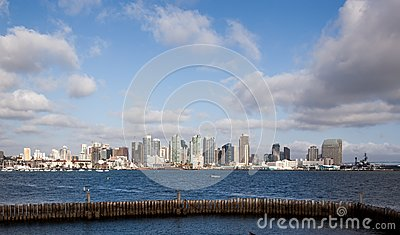 San Diego from the bay Editorial Image