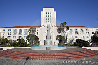 San Diego City and County Administration Building Editorial Stock Photo