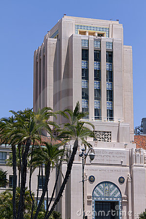 San Diego City and County Center Editorial Photo