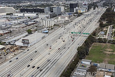 San Diego Freeway Aerial Editorial Stock Image