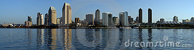 San Diego - Morning Skyline Panoramic Editorial Photography