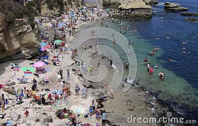 San Diego s La Jolla Cove Editorial Image