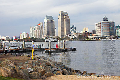 San Diego skyline & marina.