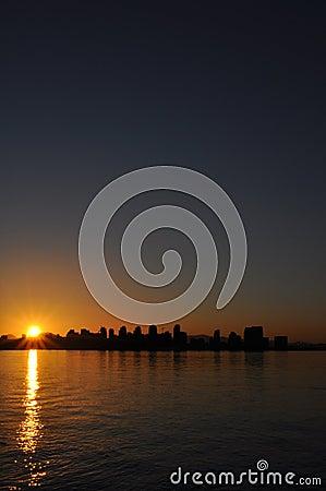 San Diego at Sun Rise