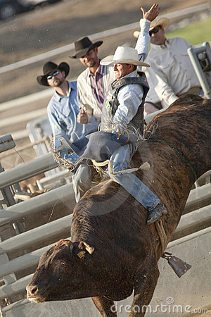 San Dimas Bull Riding Editorial Stock Photo