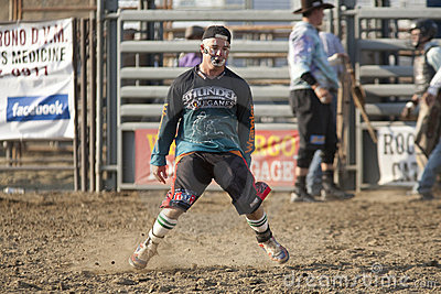 San Dimas Rodeo Clown Dancing Editorial Photography