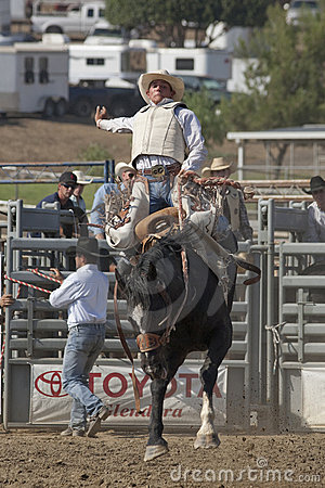 San Dimas Rodeo Saddle Bronc Editorial Stock Photo