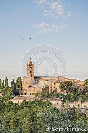 San Francesco, a church in Siena, Tuscany, Italy.