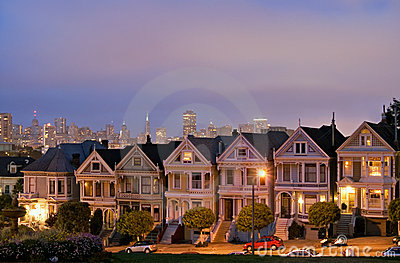 San Francisco. Alamo Square