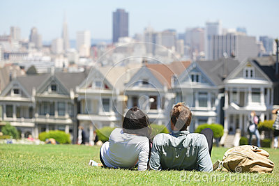 San Francisco - Alamo Square people