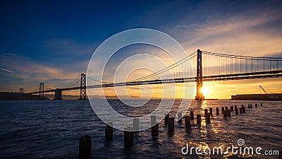 San Francisco Bay Bridge at Sunrise