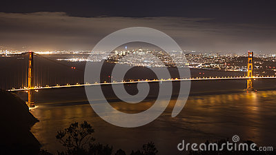 San Francisco Bay at Night