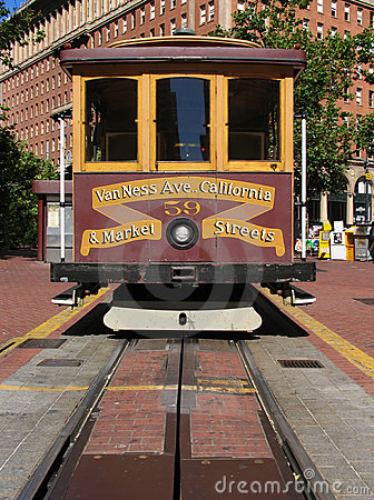 Free San Francisco Cable Car At California Street Terminus Stock Photos - 1034843