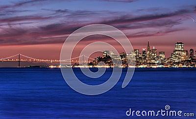 San Francisco, California Skyline at Sunrise