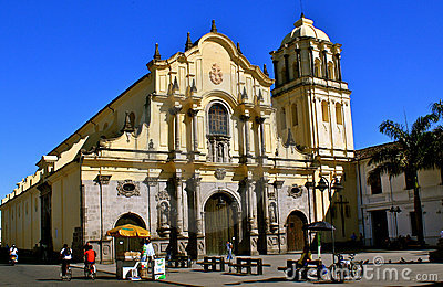 San Francisco Church, Popayán, Colombia Editorial Photography