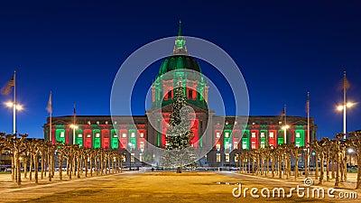 San Francisco City Hall during Christmas