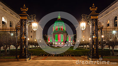 San Francisco City Hall during Christmas