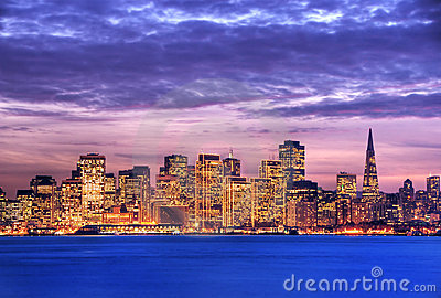 San Francisco at dusk HDR