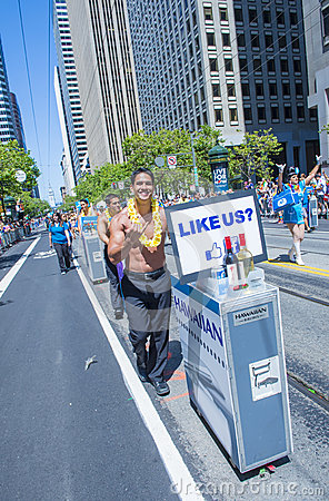 San Francisco gay pride Editorial Photography