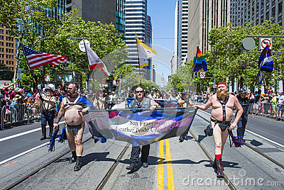 San Francisco gay pride Editorial Stock Image