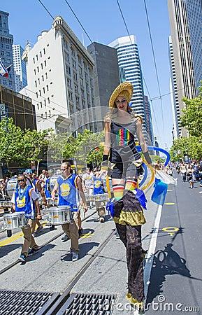 San Francisco gay pride Editorial Stock Image
