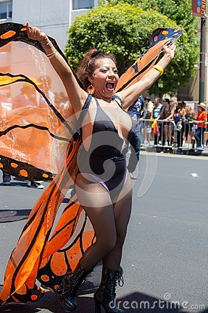 San Francisco Gay Pride Parade 2012 Editorial Photo
