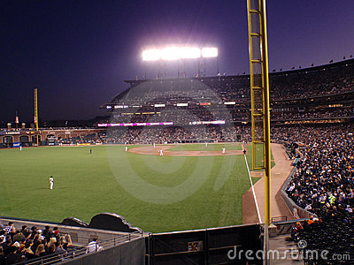 San Francisco Giants on the field before a play Editorial Stock Photo