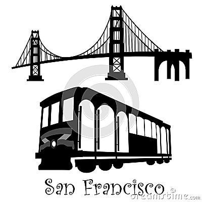Free San Francisco Golden Gate Bridge Cable Car Stock Image - 17631921