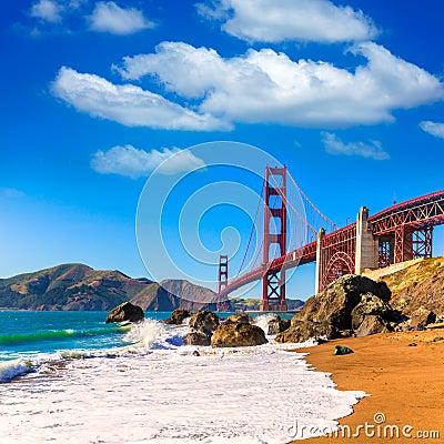 Free San Francisco Golden Gate Bridge Marshall Beach California Royalty Free Stock Images - 36804229