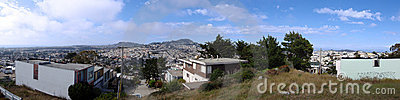 San Francisco hilltop panoramic