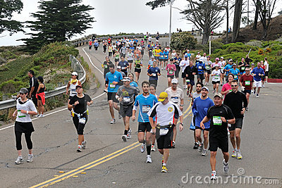 San Francisco Marathon 2010 - Presidio Editorial Photo