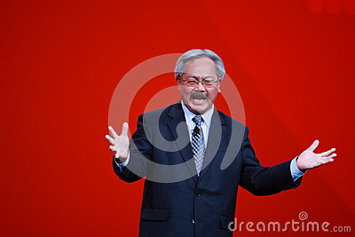 San Francisco mayor Edwin Lee welcomes Oracle OpenWorld 2013 conference Editorial Stock Image
