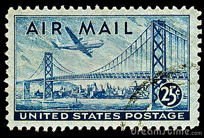 San Francisco-Oakland Bay Bridge Airmail Stamp