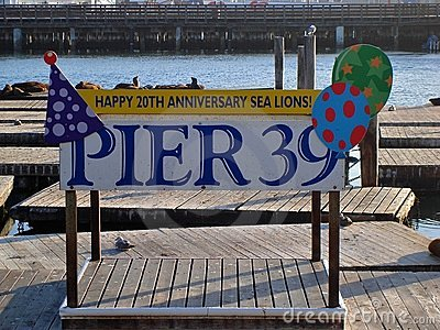 San Francisco Pier 39 20th Anniversary Editorial Photography