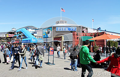 San Francisco Pier 39 Editorial Photography