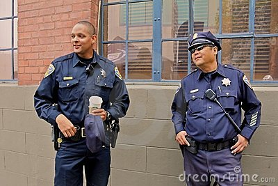 San Francisco Police at Ghirardelli festival Editorial Stock Photo