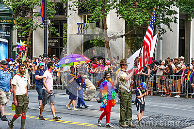 San Francisco Pride Parade Boy Scout Group Editorial Image