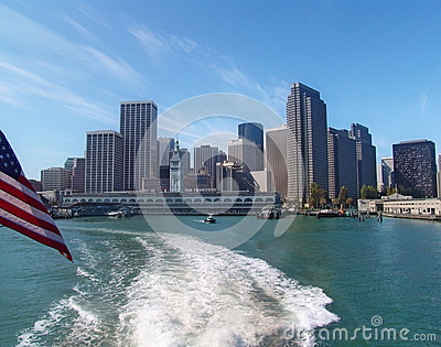 San Francisco skyline from the bay Editorial Stock Photo