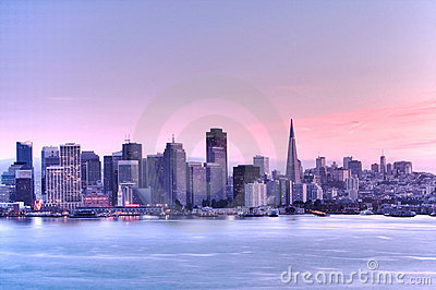 San Francisco skyline .HDR