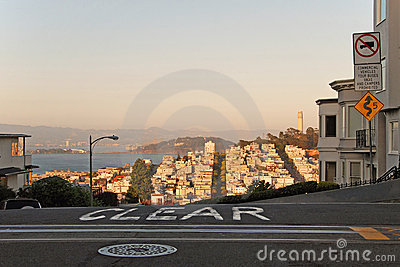 San Francisco during the sunset