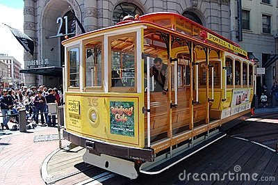 San Francisco Trolley Editorial Stock Image