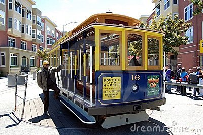 San Francisco Trolley Editorial Stock Photo